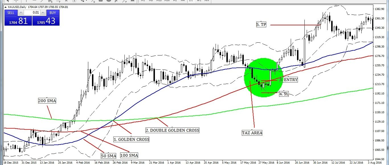 Traders Action Zone (TAZ) Entry and Exit Strategy.