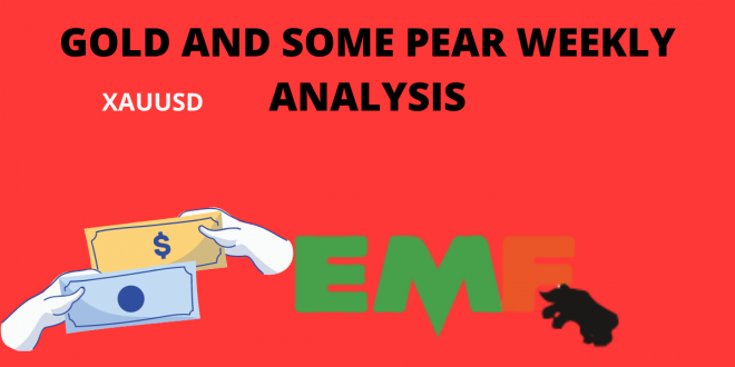 GOLD AND SOME PEAR WEEKLY ANALYSIS